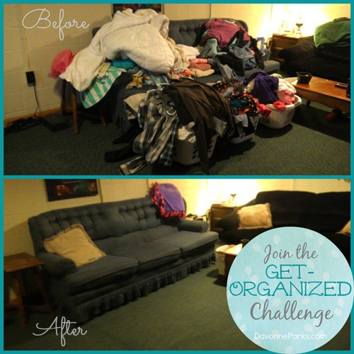Join the Get Organized Challenge at DavonneParks.com!
