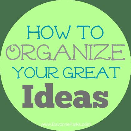 OrganizeIdeas