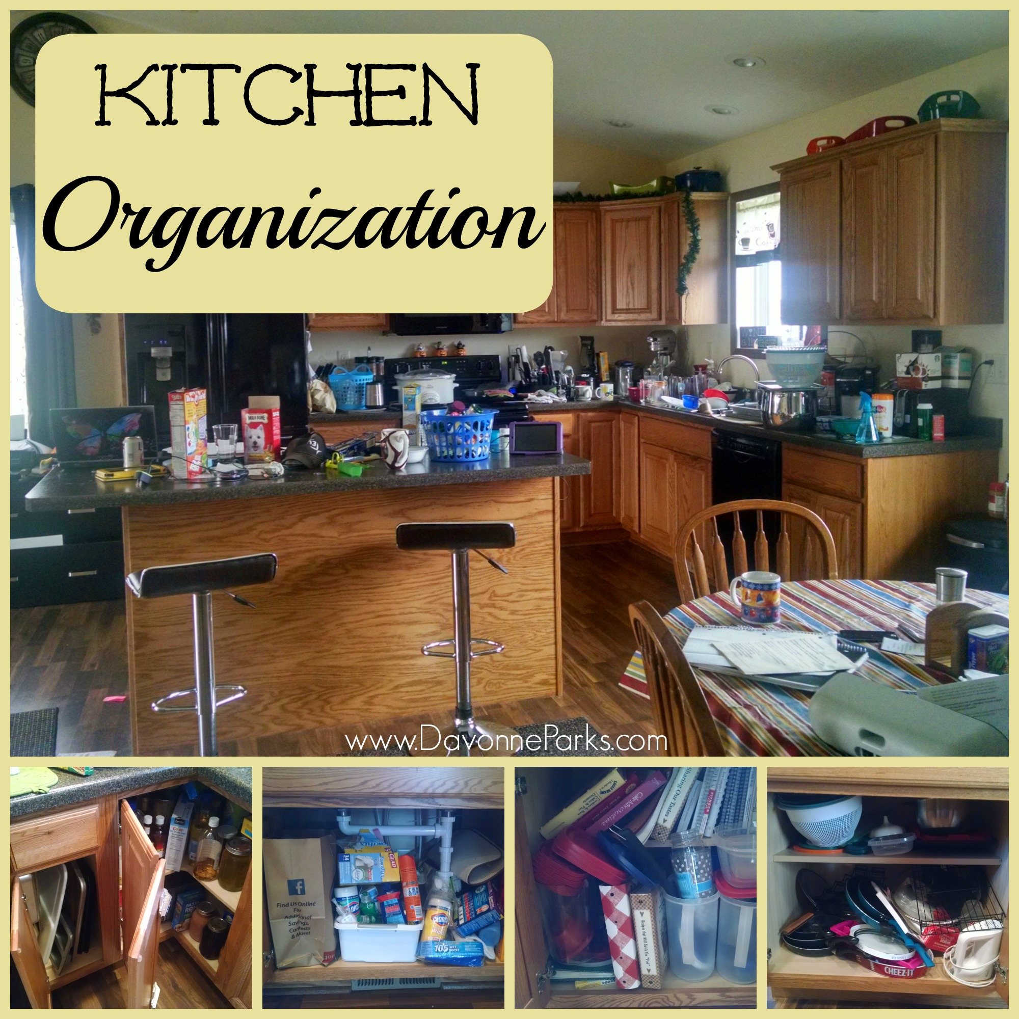Organization For Kitchen Cabinets: Organizing Kitchen Cabinets & Countertops