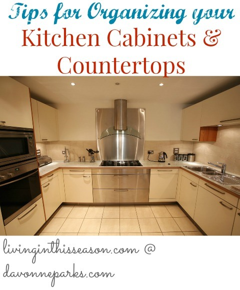 Messy Kitchen Counter: Organizing Kitchen Cabinets & Countertops
