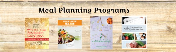 Family Resolution Revolution - Meal Planning Programs