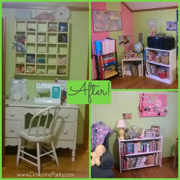 School room after photo