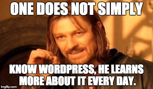 One does not simply know WordPress