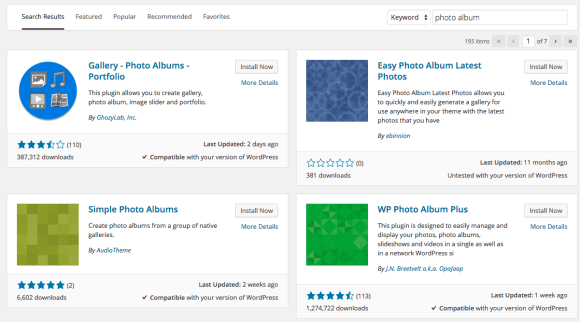 Photo album plugin
