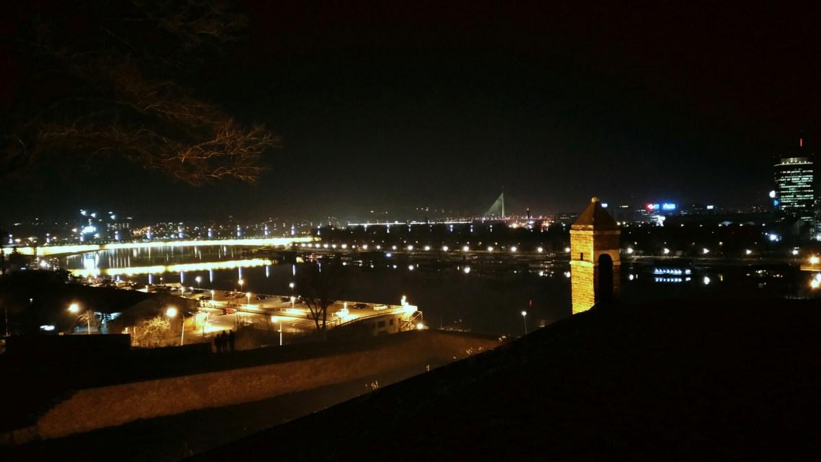 Belgrade view at night