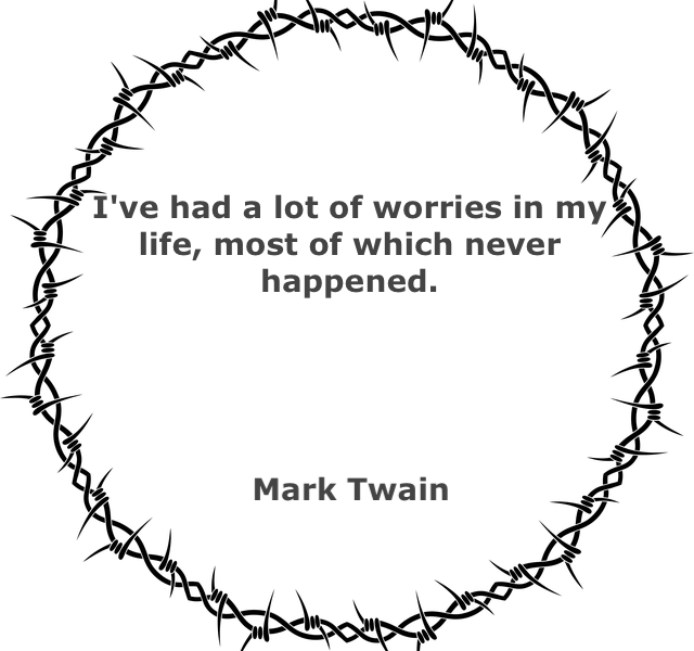 barbed wire with a quote