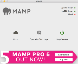 MAMP first screen
