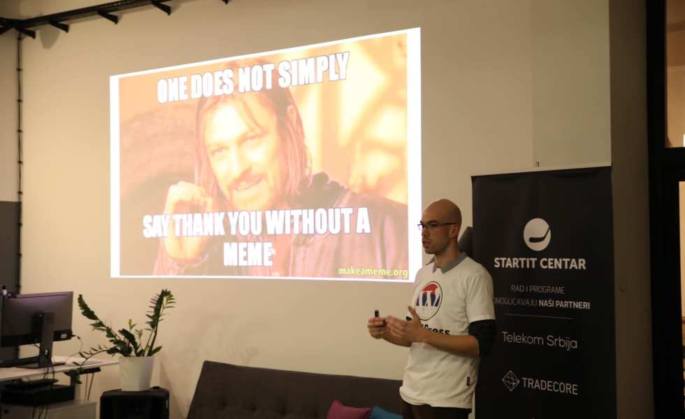 One slide during my presentation at WordPress Meetup Zrenjanin