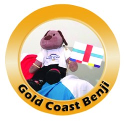 Gold Coast Benji and the World Flag