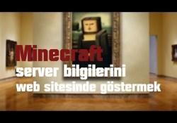 Minecraft Sunucu Bilgilerini Sitede Göstermek