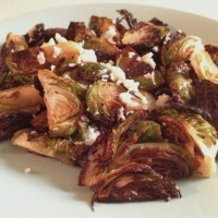 Crispy Brussels Sprouts with Cotija Cheese