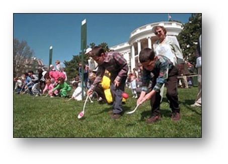 ON THIS DAY IN HISTORY WHITE HOUSE EASTER EGG HUNT