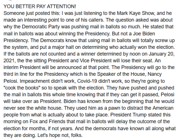 FACT CHECK: FACEBOOK POST OF THE DAY  ABOUT ELECTIONS