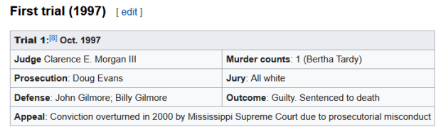 #1 TIMELINE  REPEATED PROSECUTOR MISCONDUCT LEADS TO 6 TRIALS