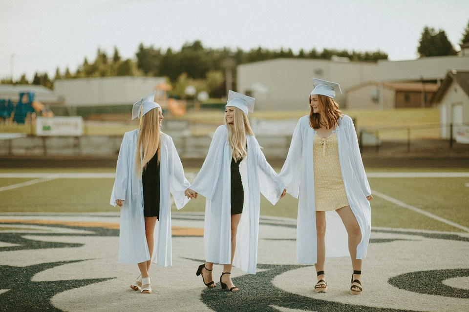 seniors in their caps and gowns