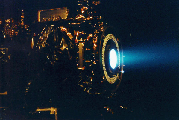 Ion Engine on the Dawn Spacecraft