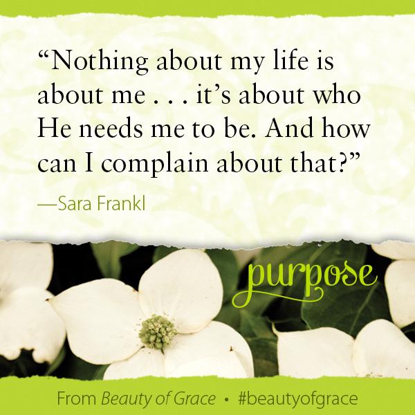 Sara Frankl The Beauty of Grace #beautyofgrace