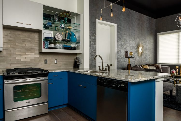 Chattanooga Condo with a Manhattan Chic Specialty Designed Kitchen