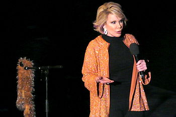 Joan Rivers opens the E4 Udderbelly Southbank ...