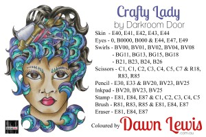 Crafty Lady copic colour printable