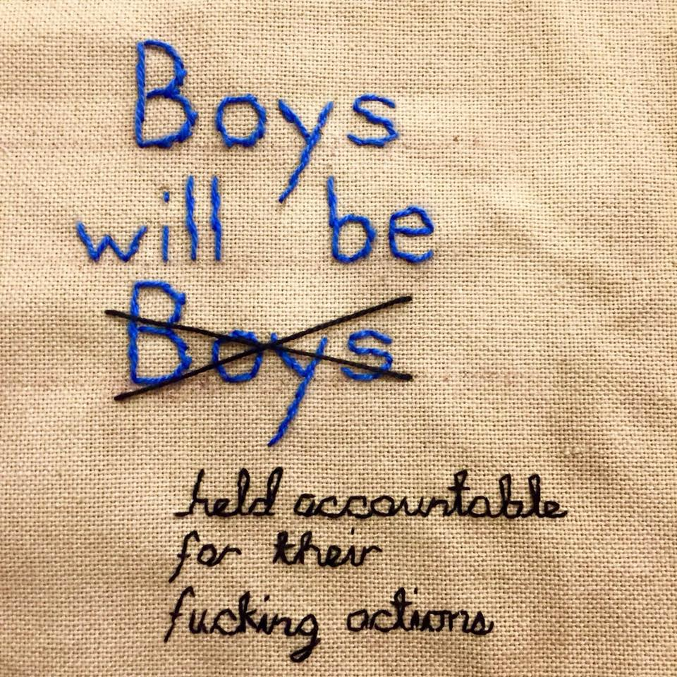 Boys will be held accountable for their f*cking actions!