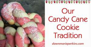 Our Candy Cane Cookie Tradition