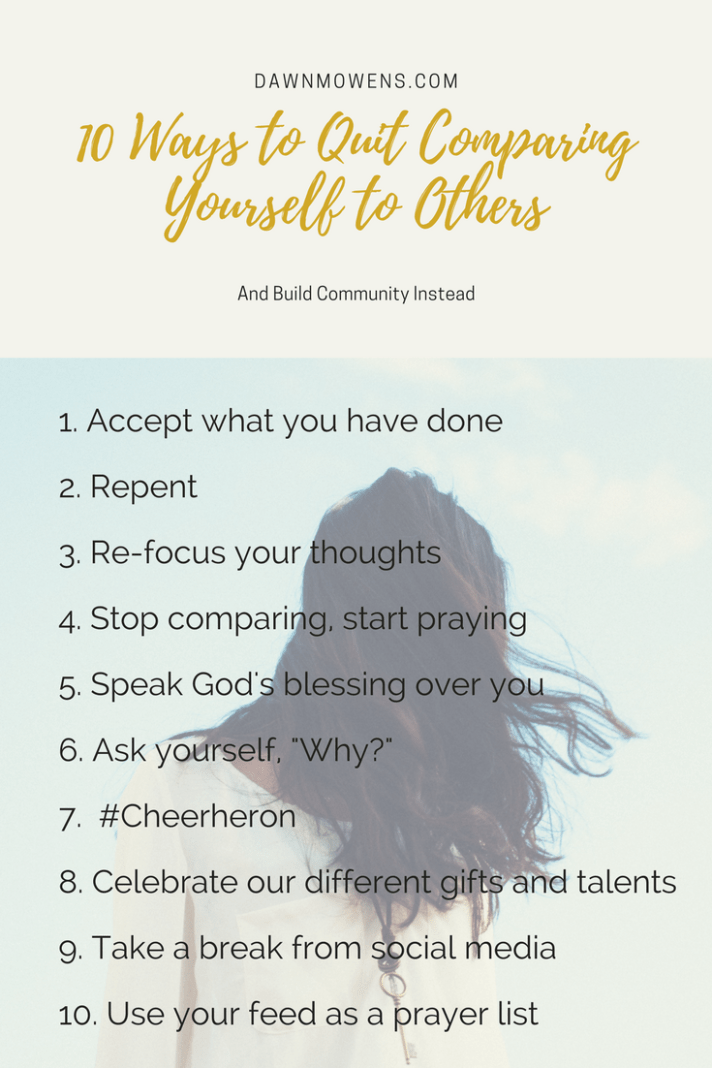 10 Ways to Quit Comparing and Start Building Community | Dawn M Owens