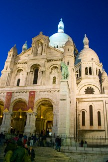 Montmartre, at the Sacre Coeur at sunset, sigh....