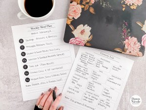 Weekly Meal Plan & Grocery List Printables. Get your weekly meal plan and grocery list organized with these free printable PDFs!