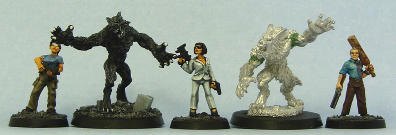 From left to right: Copplestone Castings, Male Were Wolf, Foundry, Jean Paul, Hasslefree