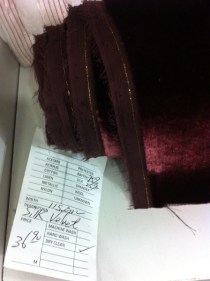 Silk velvet - $36.90 from Gala Fabrics in Victoria