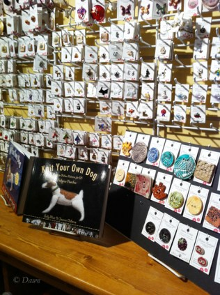 Buttons at the Button & Needlework Boutique in Victoria, BC.