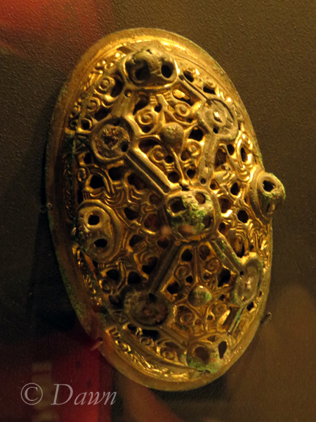 Oval brooch from the Vikings in BC display