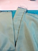 The skirt opening after adding on the placket