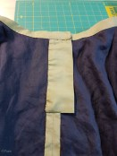 """The inside of the finished waist with the """"fly"""" or placket"""