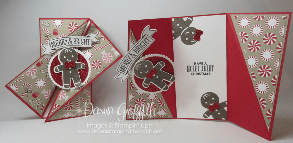 Diagonal Gate Fold Card Video Dawns Stamping Thoughts
