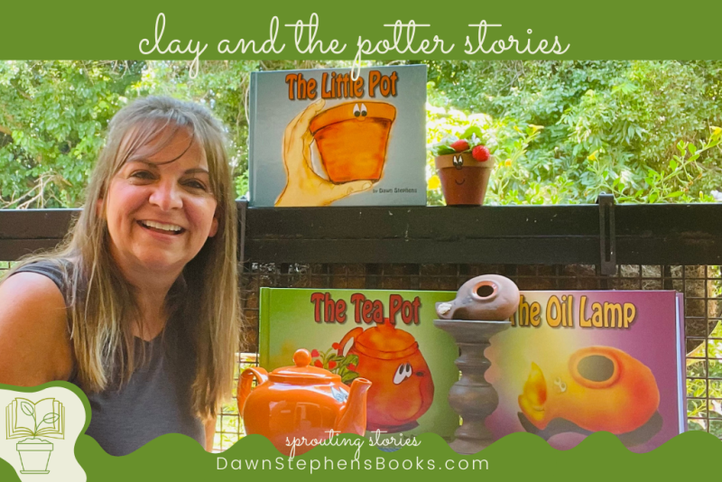 clay and the potter stories: The Little Pot, The Tea Pot, The Oil Lamp by DawnStephensBooks.com