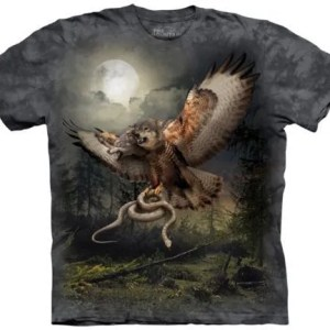 TWO HEADED WOLFALCON ADULT T SHIRT BY THE MOUNTAIN
