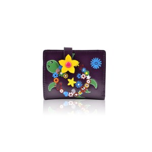 Flower-Turtle-Small-Purse---Purple