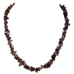 Smokey Quartz Chip Necklace