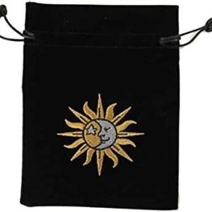 Sun/Moon Embroidered Luxury Tarot Bag Velvet 180 x 130mm