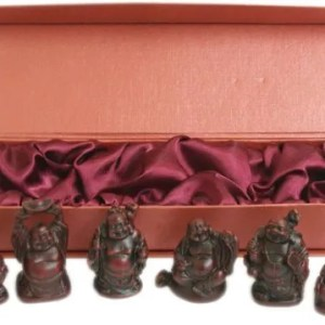 6 oriental chinese laghing lucky buddhas set