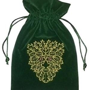 Green Man Tarot Bag Luxury Velvet 180 X 130Mm