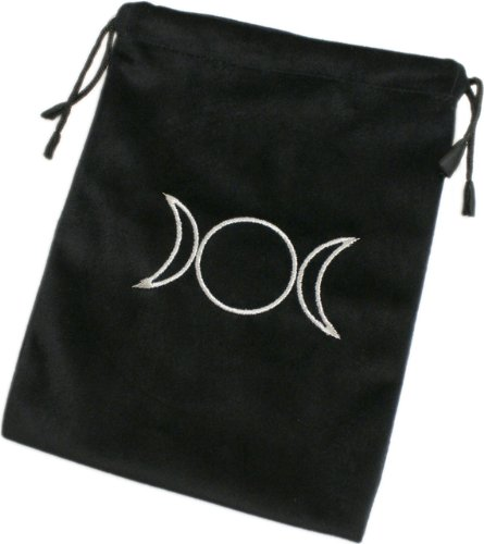 Triple Moon Black Tarot Card Bag