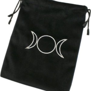 Triple Moon Black Tarot Card Bag