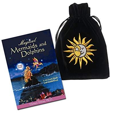 Magical Mermaids & Dolphins Deck & Sun/Moon Velvet Bag