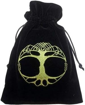 Tree of Life Luxury Tarot Embroidered Velvet Bag