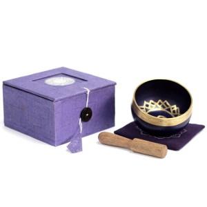 Chakra Singing Bowl Gift Set - Third Eye Chakra