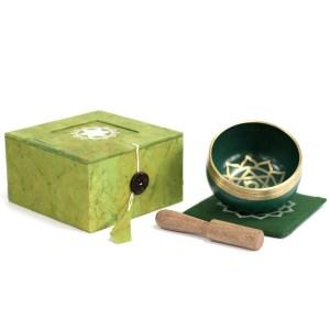 Chakra Singing Bowl Gift Set-Heart Chakra