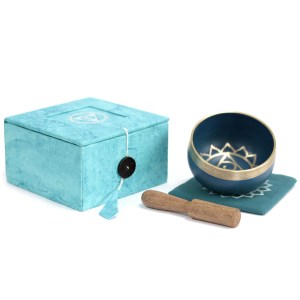 Chakra Singing Bowl Gift Set - Throat Chakra